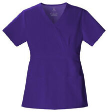 Cherokee Luxe Nu-Grape Purple Mock Wrap Scrub Top 1841 Buy 2+ Ship $4 NWT