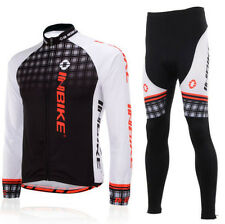 Mens Bicycle Cycling Bike Team Sport Clothing Long Sleeve Jersey Shirt&Pants Set