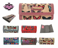 Anna Smith Flapover Butterfly Purse Womens Designer Trifold Butterflies Wallet