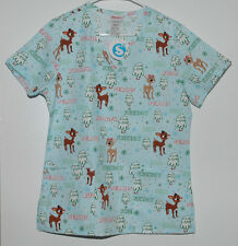 Hello Rudolph the Red Nosed Reindeer V Neck Christmas Scrub Top