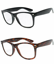 Retro Wayfarer Clear Lens Reading Glasses Various Strenghts Colors RE09