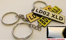 Laser Engraved Promotional/Personalised car numberplate/any text Keyring tag