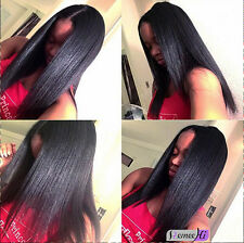"8""-24"" yaki straight indian remy human hair affordable cheap lace front wig"
