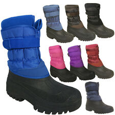 Womens Girls Stable Farm Fleece Lined Dog Walking Rain Wellies Mucker Boots 3-11