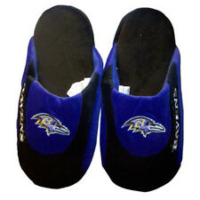 Baltimore Ravens Slippers Mens or Womens NFL Slip On Comfy Feet Low Pro Slippers