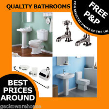 WC Complete Bathroom ceramic 4 piece Toilet sink basin cistern sanitary sets
