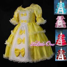 Girl Vintage Victorian Princess Dress Fancy Costume Pageant Party Size 2T-9 #001