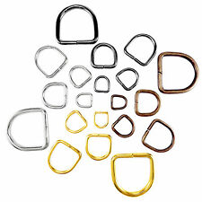 D rings buckles for webbing long different sizes and colours available unwelded