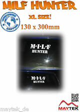 MILF HUNTER - 130 x 300mm XL -Aufkleber,Sticker,MILF,Brazzers,Bunny,Bang Bus,JDM
