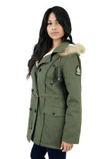 NEW LADIES HOODED PARKA FLEECE TOP SIZE16-22 WINTER WARM WOMENS LONG JACKET COAT