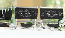 Bridal Party Wedding Chair Sashes Reception Decorations Supplies Bride Groom