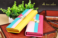 2013 New Four Leaf Clover Trifold Faux Leather Wallet For Lady Girl 4colors