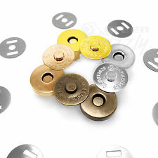 Magnetic snaps fasteners handbag craft buttons 18mm or 14mm silver gold antique