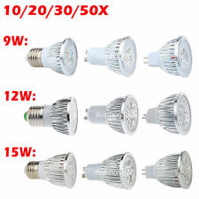 E27 MR16 GU10 Dimmable LED Bombilla Spot Down Light Bulb Lamp White 3500K 6500K