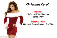 Miss Sexy Velvet Santa Christmas Party Sexy Snowman Fancy dress Outfit Costume