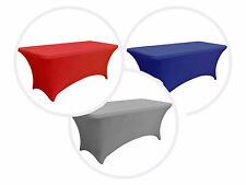 """1 pc 6 ft Rectangular 72x30"""" Spandex Fitted Party Wedding Catering Tableclothes"""