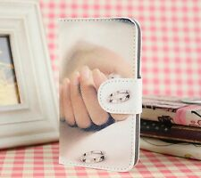 Card Holder Diamond RING PU leather Cover Case For sony Xperia LG Nokia Phones