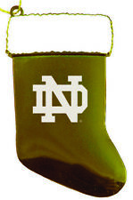 University of Notre Dame - Chirstmas Holiday Stocking Ornament - Gold