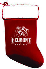 Belmont University - Chirstmas Holiday Stocking Ornament - Red