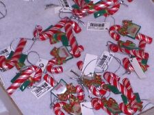 "GANZ CANDY CANE ""PERSONALIZED"" CHRISTMAS ORNAMENT free shipping NEW WT TAG (A-C)"