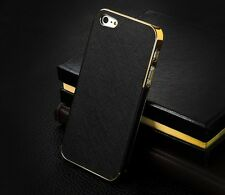 PERSONALISED LASER ENGRAVED LEATHER ALUMINUM SKIN SHELL iPHONE 5 COVER CASE GIFT