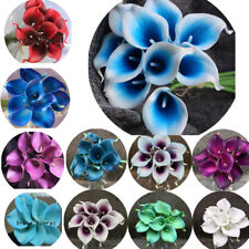27 Real Touch Pu Calla lily~Wedding Bridal Bouquet Silk Flowers Home Party Decor