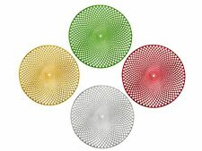 HOLIDAY DECORATIVE ROUND VINYL PLACEMAT, 15 INCH DIAMETER PLACE MAT, 4 COLORS