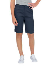 "DICKIES GIRL NAVY TOMBOY SHORT4 POCKET CLASSIC MID RISE 13"" STRETCH Sizes 0 - 15"