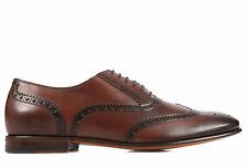GUCCI MEN'S CLASSIC LEATHER LACE UP LACED FORMAL SHOES NEW BROGUE BROWN  9E2