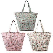 Floral Tote Bag for Women Shopping Diaper Gym Bags Waterproof Shoulder Totes