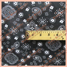 "BANDANA PRINT POLY COTTON FABRIC 58"" WIDE BY THE YARD"