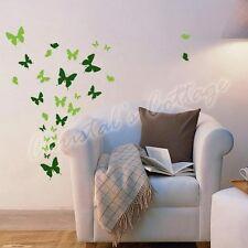 Up to 53 Mixed Butterfly Bedroom Bathroom Kitchen Wall Art Stickers Kids Decals