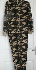 Camoflage Print Army Onesie Jump Suit Pyjamas Hooded Fleece 7- 13