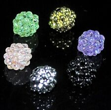 50 pcs plastic berry beads round approx 10 mm