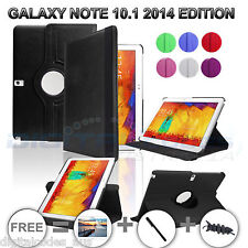 Samsung Galaxy Note 10.1 2014 Rotate Flip Leather Case Cover SM P600 P601 P605