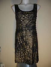 NWT Mon Ami Black and Gold Dress Size S, M, L