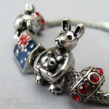 Animals Of Australia European Starter Charm Bracelet w/ Kangaroo And Koala Beads
