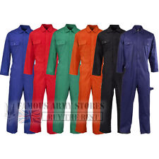 BRITISH Designed Boilersuit Coverall Overalls Workwear Stud Front Mens Adults
