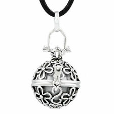 Mexican bola Chiming Sterling Silver Angel Callers Belly Necklaces Harmony Ball
