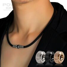 New Power Ionics Full Throttle 3000ions Healthy Fashion Sports Titanium Necklace