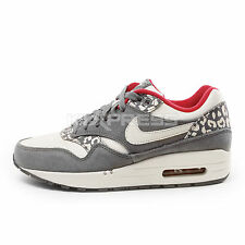 Nike WMNS Air Max 1 [319986-099] NSW Running Leopard Pack Charcoal/Sail-Gym Red