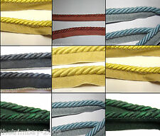 9mm Flanged Curtain/Upholstery Insertion Cord Several Colours £2.99 Per Metre
