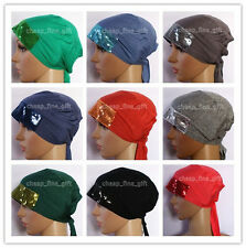 New Style Sequins Bandage Muslim Inner Hijab Caps Islamic Underscarf Hats