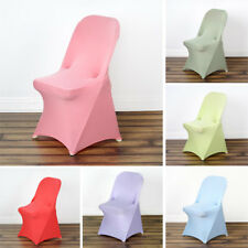 10 pcs SPANDEX Folding CHAIR COVERS Stretchable Fitted Wedding Party Decorations