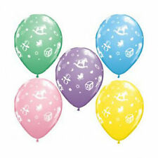 Baby Shower Party Balloons Boy Girl Blue Pink Decorations Supplies