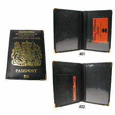 UK and European Passport Holder Protector Cover Wallet Genuine Real Leather