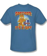 Garfield Comic Cat Sarcasm It's a Gift  Licensed Tee Shirt Adult S-3XL