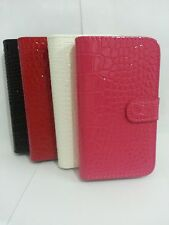 Cute Lovely Crocodile PU Flip Leather Card Wallet Case For ZTE Phones