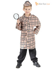 Boys Victorian Detective Police Sherlock Holmes Fancy Dress Costume Book Week