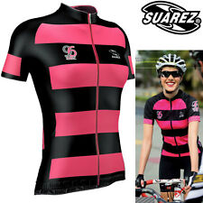 Suarez Womens Stripes Cycling Jersey - Only 15 made, Air Dry and Air Mesh Techno